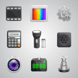 Components of the mobile phone Stock Photo