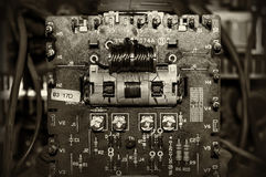 Components old electronic board Royalty Free Stock Images