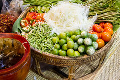 Components of papaya salad Stock Photo