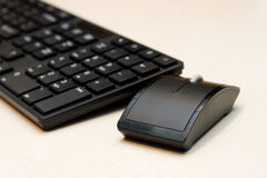 Components of a personal computer: mouse, keyboard Royalty Free Stock Photos