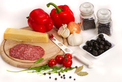 Components for pizza - 3 Royalty Free Stock Images