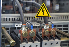 Components from power supply modules Stock Images