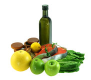 Components salad. On white background royalty free stock photo
