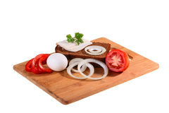 Components for sandwich Royalty Free Stock Photos