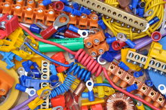 Components to used in electrical installation Royalty Free Stock Images