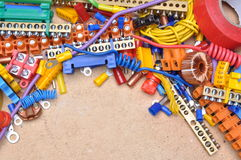 Components to used in electrical installation Stock Photography