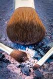 Componga el cepillo con las sombras del color del helado Foto de archivo