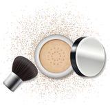 Componga el polvo, ruborícese Skincare, forma de vida de la belleza stock de ilustración