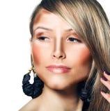 Componga la cara de la mujer Maquillaje del contorno y del punto culminante fotografía de archivo libre de regalías