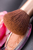 Componga la spazzola e la polvere Fotografie Stock Libere da Diritti