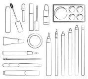 Componga los cosméticos Ilustración del vector Estilo plano Fotos de archivo