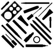 Componga los cosméticos Ilustración del vector Estilo plano stock de ilustración