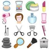 Componga y los iconos de la belleza - ejemplo Foto de archivo libre de regalías