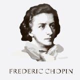 Componist Frederic Chopin Vector portret royalty-vrije illustratie