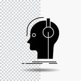componist, hoofdtelefoons, musicus, producent, correct Glyph-Pictogram op Transparante Achtergrond Zwart pictogram vector illustratie