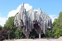 Componist Sibelius Monument in Helsinki Royalty-vrije Stock Fotografie