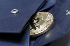 Comporre del portafoglio di Bitcoin fotografia stock