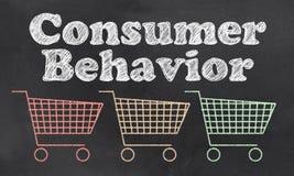 Comportamento de consumidor ilustração royalty free