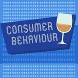 Comportamento de consumidor da escrita do texto da escrita Decisões do significado do conceito que os povos fazem para comprar ou ilustração royalty free