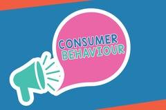 Comportamento del consumatore di scrittura del testo della scrittura Decisioni di significato di concetto che la gente prende per illustrazione vettoriale