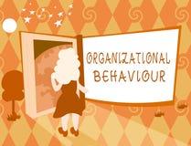 Comportamento organizzativo del testo di scrittura di parola Il concetto di affari per lo studio della gente di modo interagisce  royalty illustrazione gratis