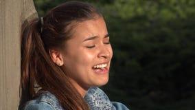Comportamiento errático loco de la muchacha adolescente Imagen de archivo