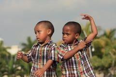Comportement enfantin Photo libre de droits