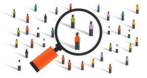 Comportements de foule mesurant la recherche sociale de population d'expérience de statistiques d'échantillonnage de la société illustration stock