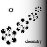 Composé atomique des molécules d'ADN Photographie stock