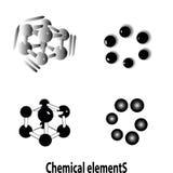 Composé atomique des molécules d'ADN Images stock