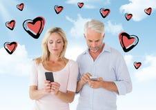 Composé de Digital des couples affectueux Photo stock