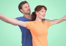 Composé de Digital des couples affectueux Photos stock