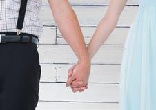 Composé de Digital des couples affectueux Photographie stock libre de droits