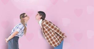 Composé de Digital des couples affectueux Photo libre de droits