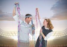 Composé de Digital des couples affectueux Images libres de droits