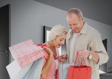 Composé de Digital des couples affectueux Photographie stock