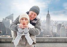 Composé de Digital des couples affectueux Photos libres de droits