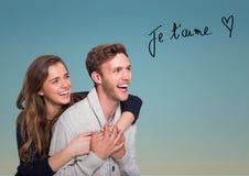 Composé de Digital des couples affectueux Image stock