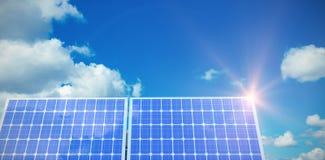 Composé de Digital du panneau solaire 3d Image libre de droits