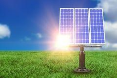 Composé de Digital du panneau solaire 3d Images stock