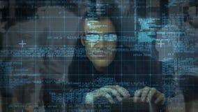 Composé de Digital de pirate informatique et d'interface numérique illustration libre de droits