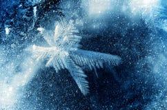 Composé de glace des flocons de neige et du gel Images stock