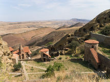 Composé de monastère de David Gareja Photo stock