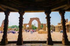 Composé de Qutub Minar Images stock
