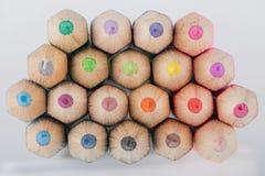 Composé de résumé de grands crayons Images stock