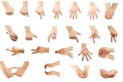 Composé des gestes de main Images libres de droits