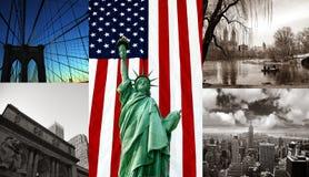Composé des points de repère à New York photographie stock libre de droits
