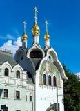 Composé patriarcal de couvent de séraphin-Diveevo de trinité sainte à Moscou, Russie photographie stock