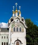 Composé patriarcal de couvent de séraphin-Diveevo de trinité sainte à Moscou, Russie photos stock