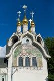 Composé patriarcal de couvent de séraphin-Diveevo de trinité sainte à Moscou, Russie photo libre de droits